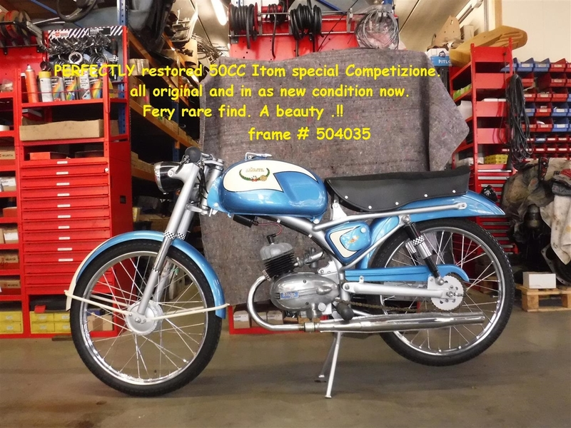 1958 Itom special competizione is listed Till salu on ClassicDigest in De Lier by Joop Stolze