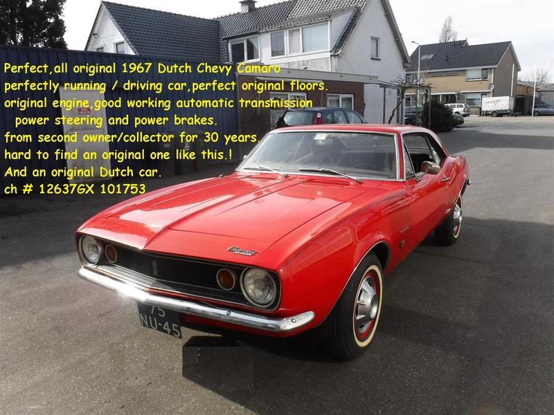 1967 Chevrolet Camaro Is Listed Zu Verkaufen On Classicdigest In De Lier By Joop Stolze Classic Cars For 29850 Classicdigest Com