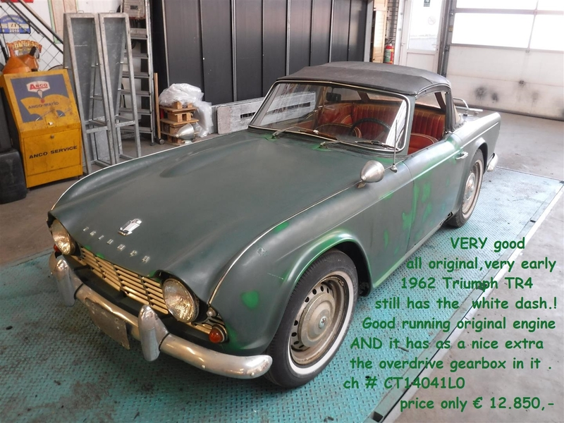 1962 Triumph Tr4 Is Listed For Sale On Classicdigest In De Lier By