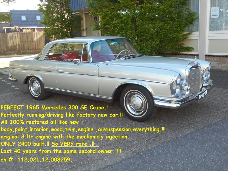 8087977adb 1965 Mercedes-Benz Other is listed For sale on ClassicDigest in De ...