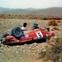 Datsun 240Z rallycar crash