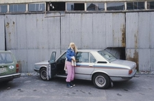 Agnetha Fältskog with her BMW 535