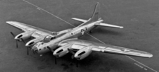Liquid cooled B-17 Flying Fortress  XB-38