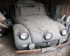 Tatra 87 as found in a barn, ex SS Waffen / Red Army car