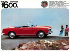 Fiat 1600 Sports Cabriolet advertisement.